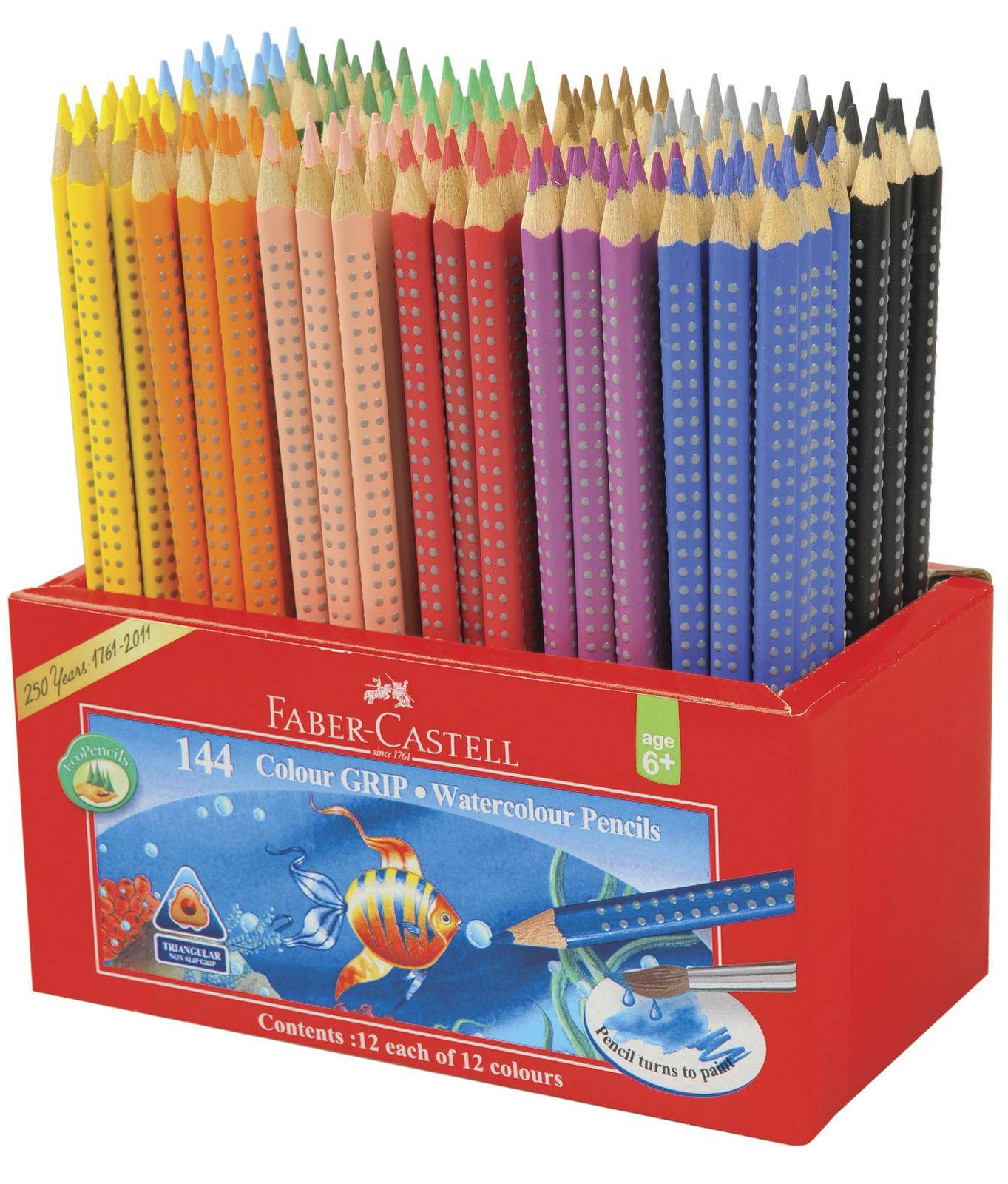Faber Castell Watercolour Grip Pencils Caddie Of 144 In 2020