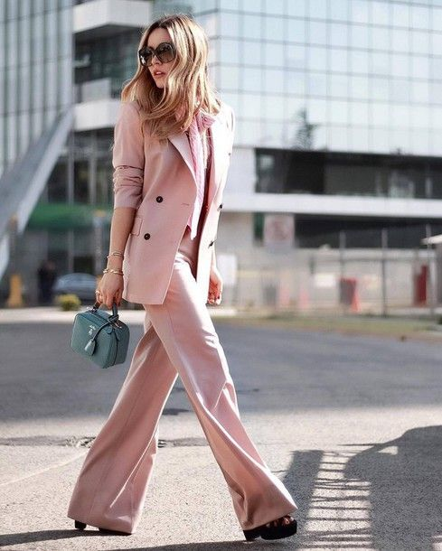 c4e5b3f18c Pants  tumblr pink wide-leg blazer pink blazer matching set power suit two  piece uits shirt pink