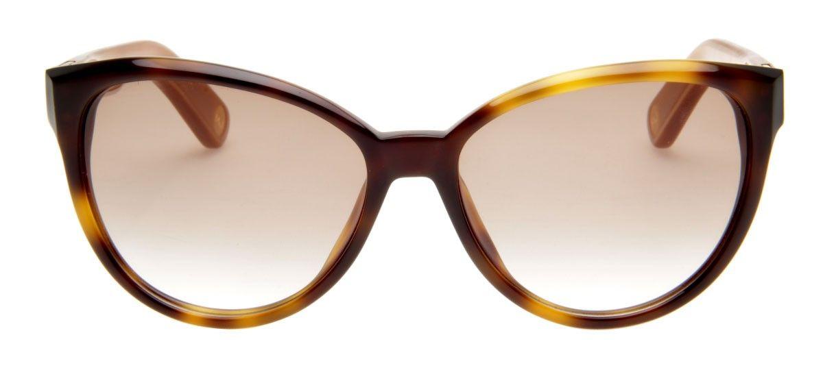 4ebc75dbc41a0 Óculos da Marc Jacobs, de modelo gatinho que remete a feminilidade e a  ousadia, sendo um ícone de estilo e moda. Lente degradê com armação bege.