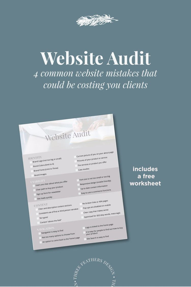 Website Audit | Pinterest | Website