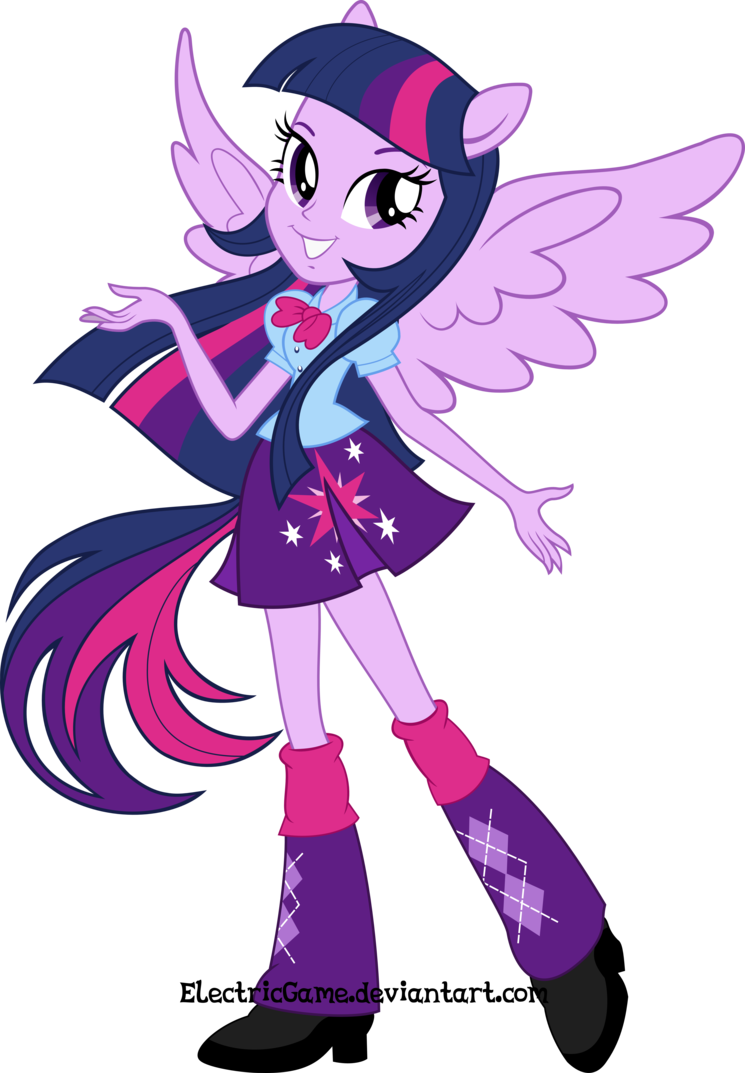 Twilight Sparkle Equestria Girls Dibujos Para Colorear De My Little Pony Humanas Mlp Equestria Girls The Magic Vector By Electricgame On