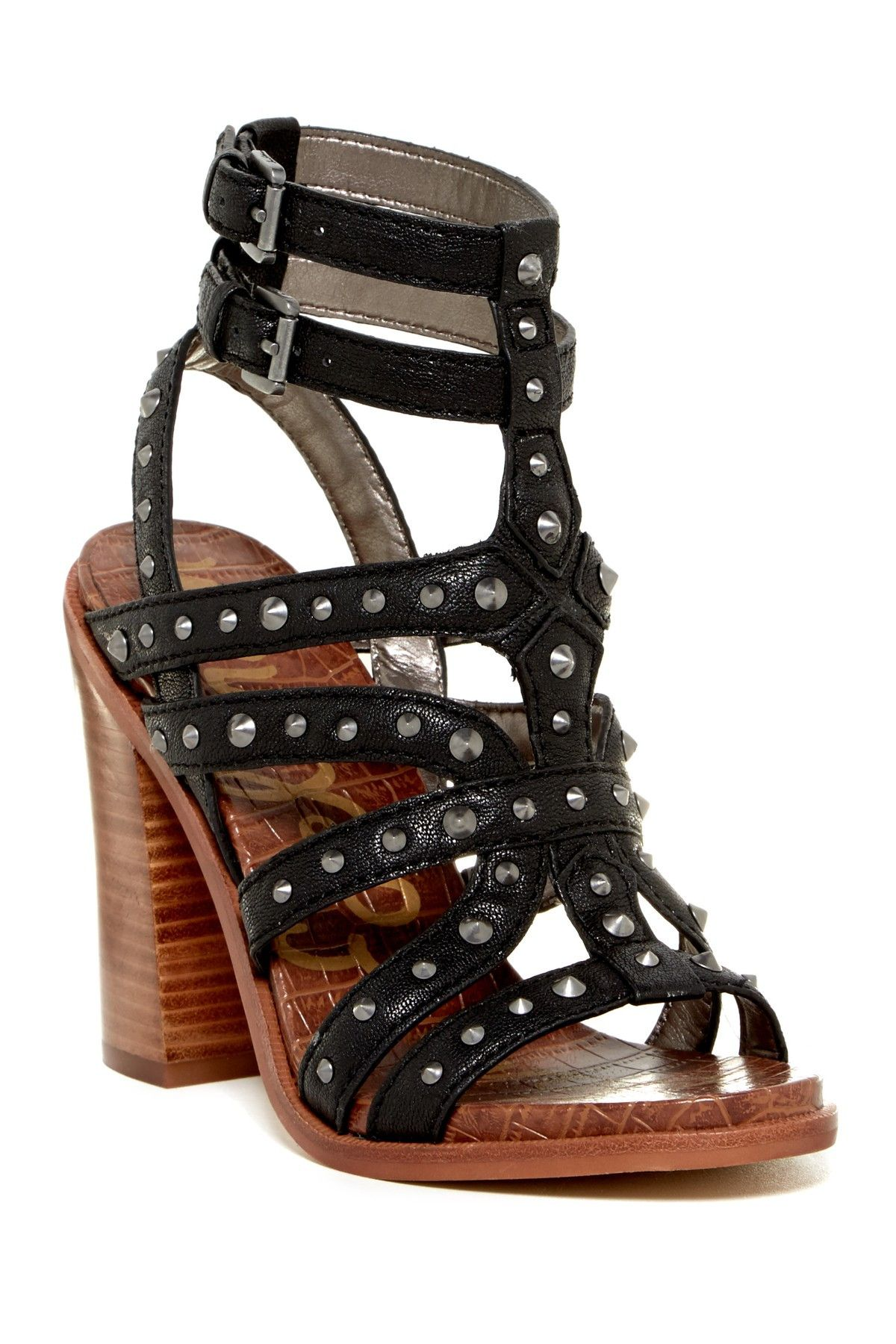 Transition your wardrobe into fall with these edgy studded sandals!