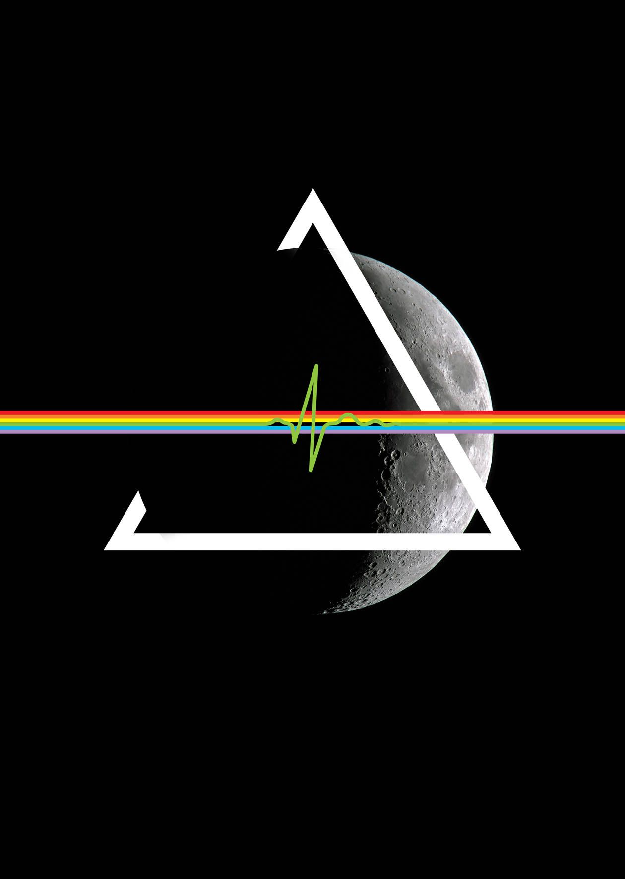 Pink Floyd Poster Dark Side Of The Moon Graphic Art Print