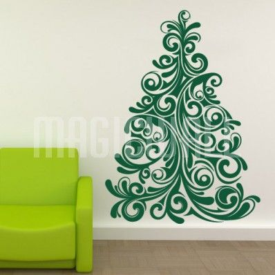 Christmas Tree Wall Decal Stickers Xmas Tree Alternatives