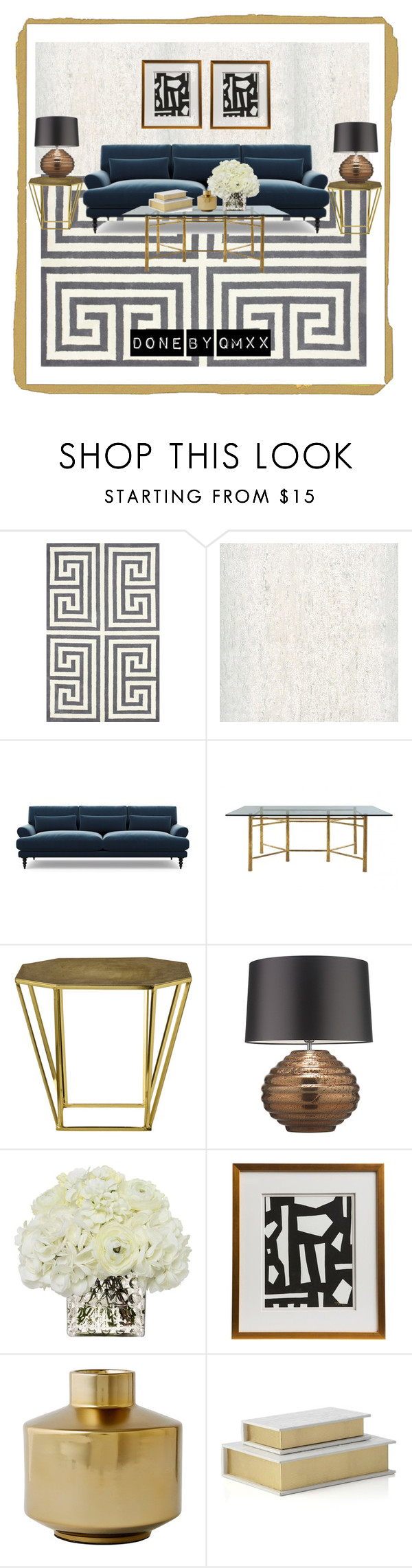 """""""Mix classic with new classic"""" by qqamrah on Polyvore featuring interior, interiors, interior design, home, home decor, interior decorating, nuLOOM, Élitis, Jayson Home and Zoffany"""