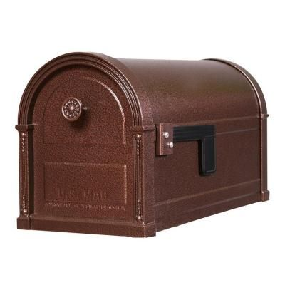 Gibraltar Mailboxes High Grove Steel Post Mount Mailbox In Copper Vein Is Constructed From Heavy Duty Steel Features Mounted Mailbox Post Mount Steel Mailbox