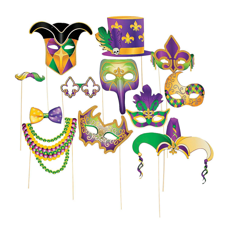 parti gras mardi gras stick costume props orientaltradingcom photo booth props - Costume Props
