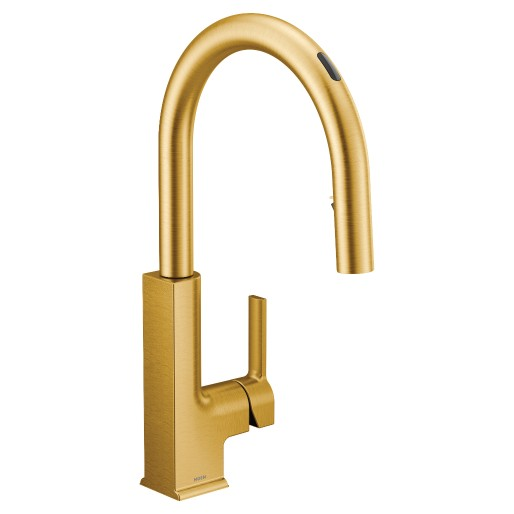 U By Moen Smart Faucet In Stō Brushed Gold In 2020 Faucet