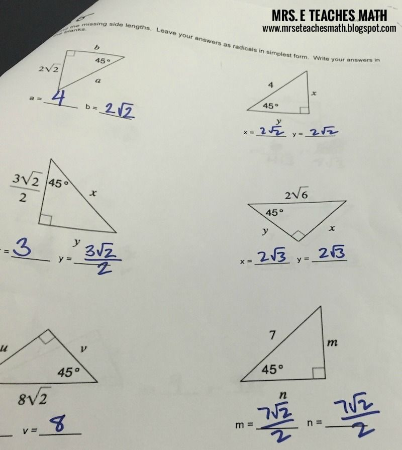 Worksheet Special Right Triangles Worksheet 1000 images about geometryspecial right triangles on pinterest special triangle activities and maze