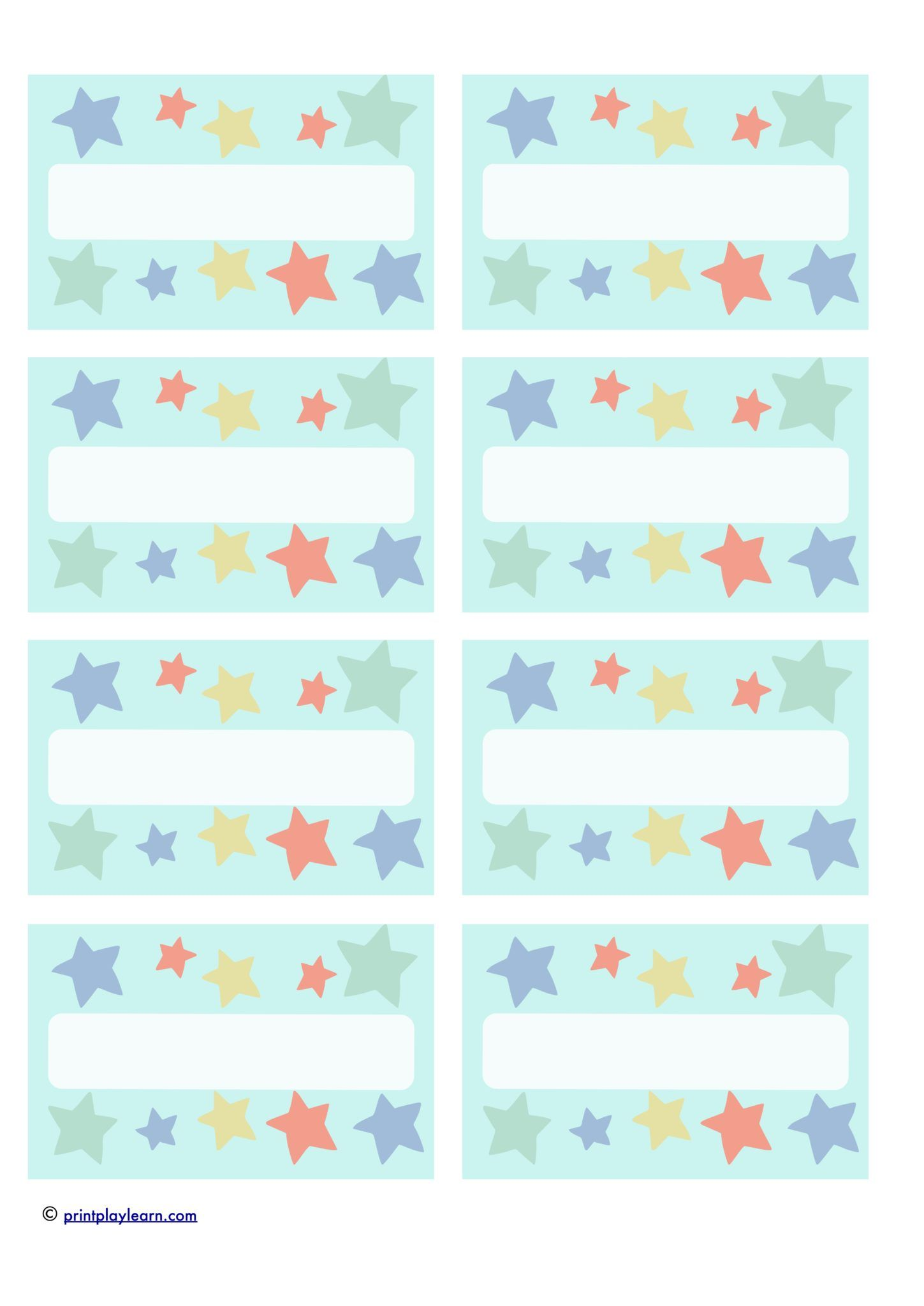 Star Peg Label Name Labels Print And Handwrite The Names Or Type Directly Into T Printable Teaching Resources School Name Labels Free Classroom Printables