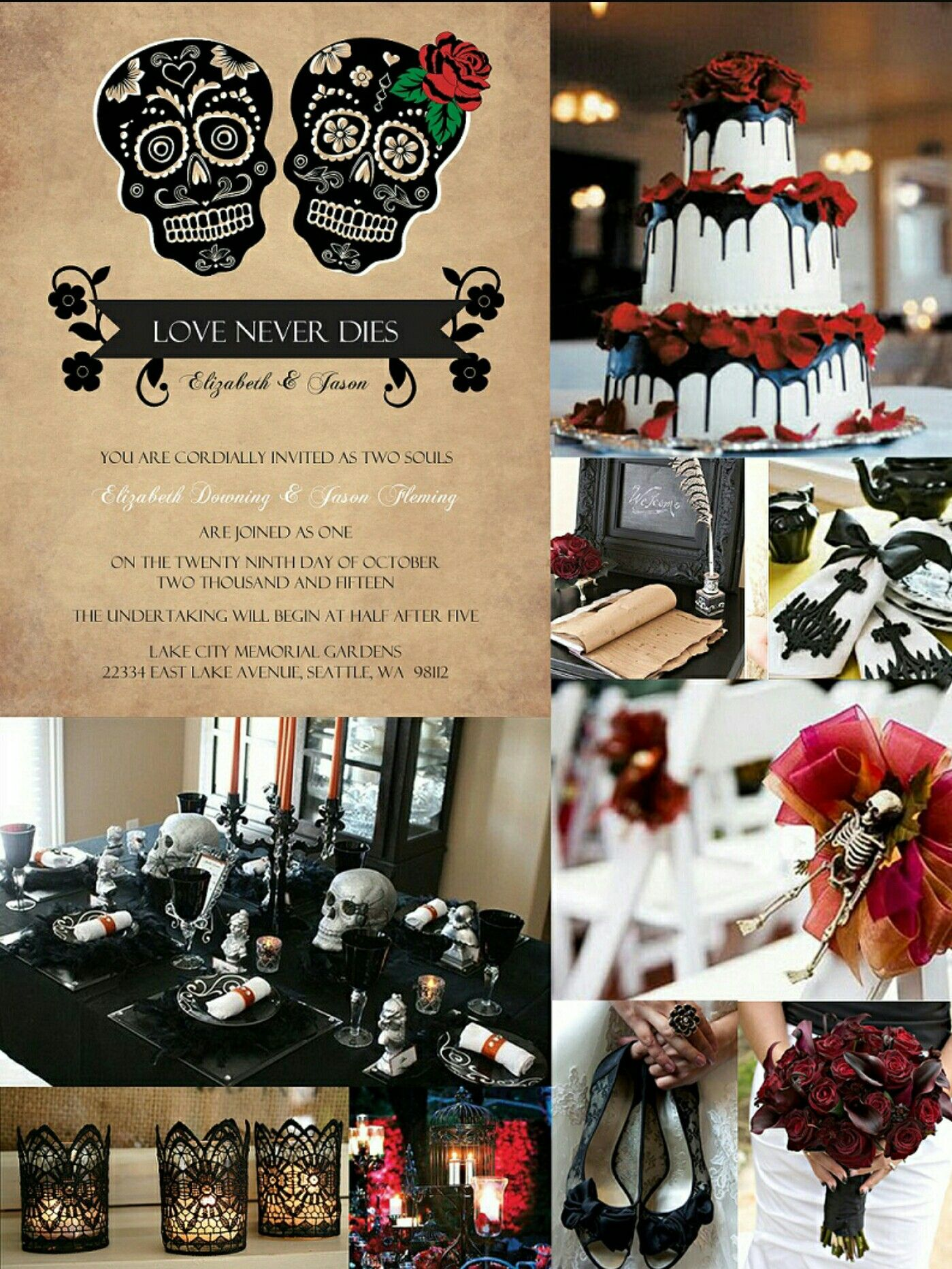 Pin by My dreams come true Thank you Universe on Our Fairy Tale - halloween wedding decoration ideas