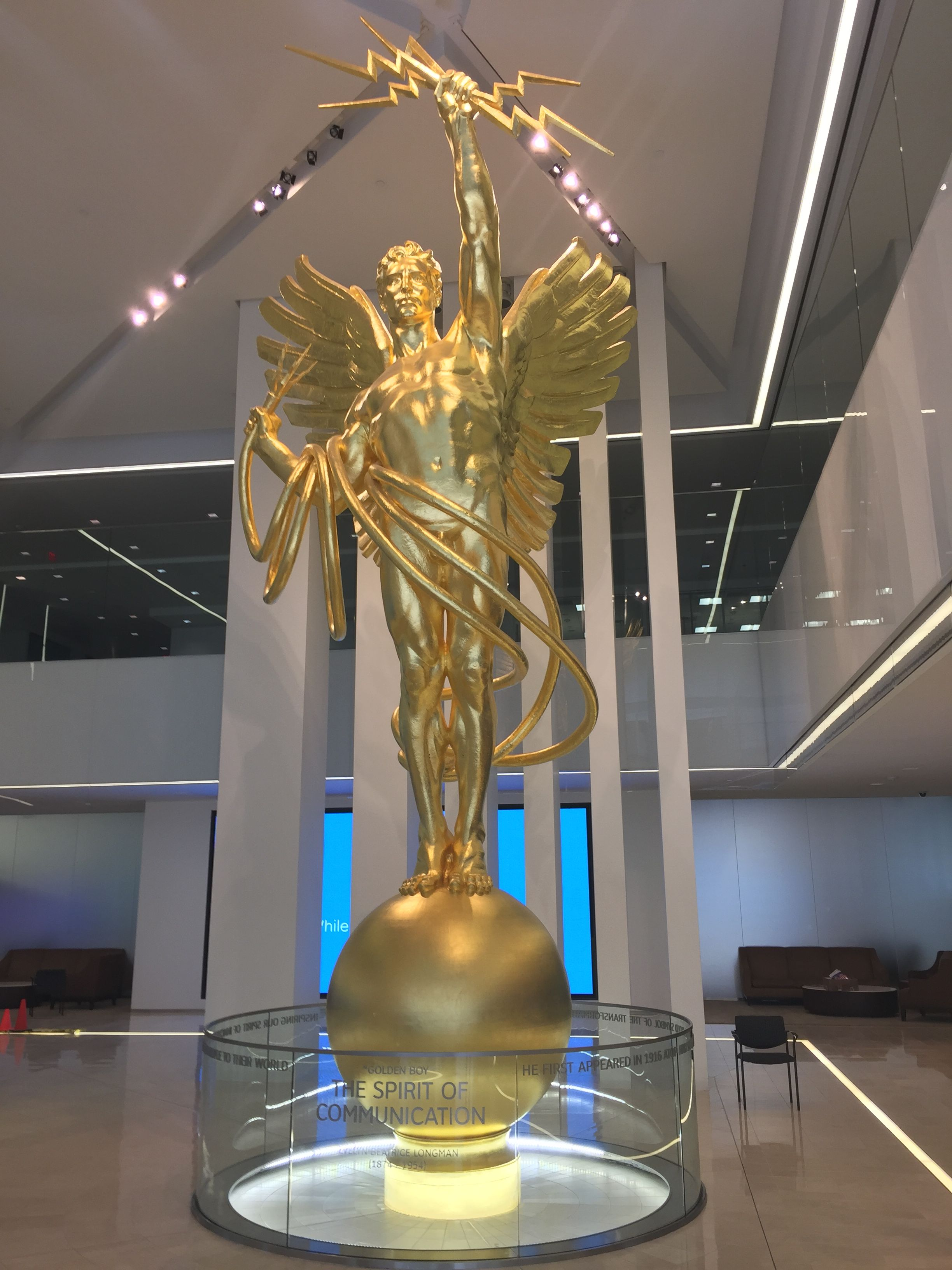 Golden Boy, Genius of Communications, AT&T Headquarters