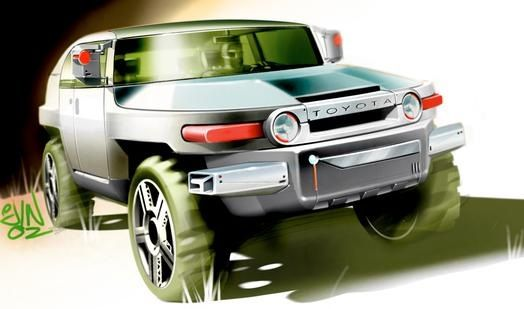 SketchWall Challenge Idea: The FJ Cruiser is going to go away. This is an iconic vehicle for Toyota. What if we could save it?