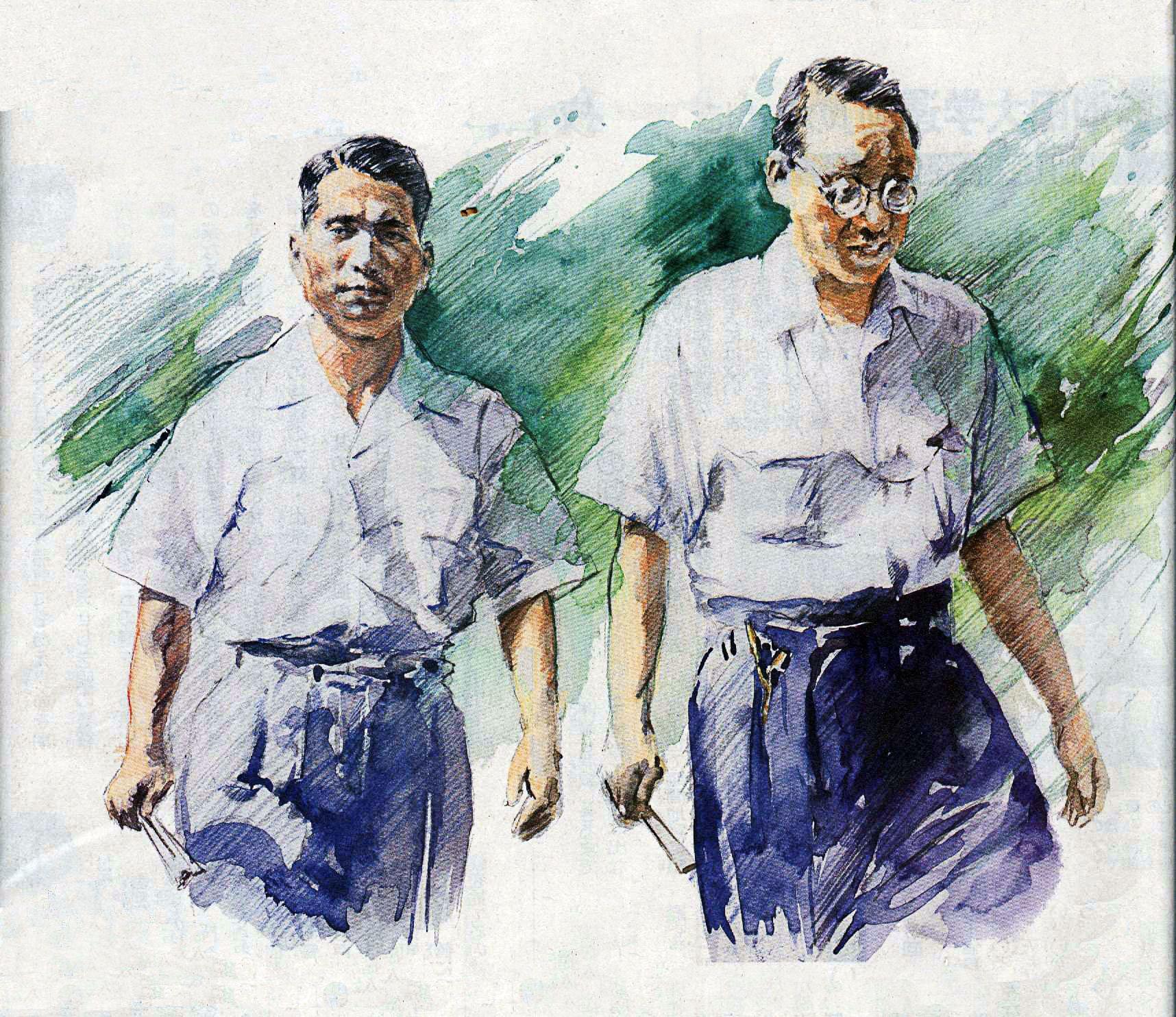 2nd and 3rd Soka Gakkai International Presidents. Josei Toda (R) and Daisaku Ikeda (L) - For more info visit: http://www.sgi-usa.org
