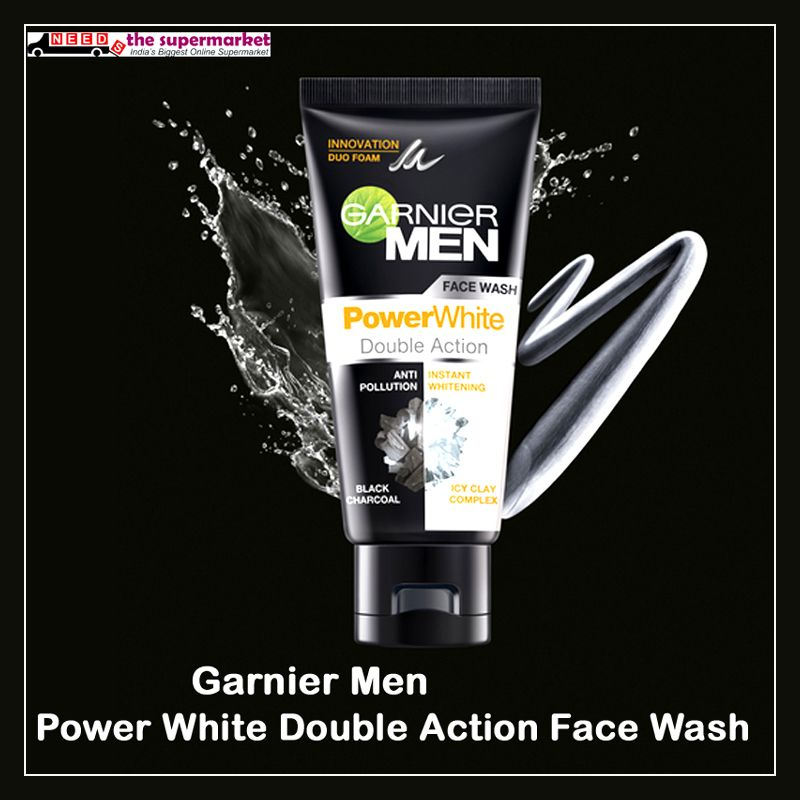 d8a62ab415 Anti pollution, Instant whitening, Duo foam of #Garnier Men Power White  Double Action