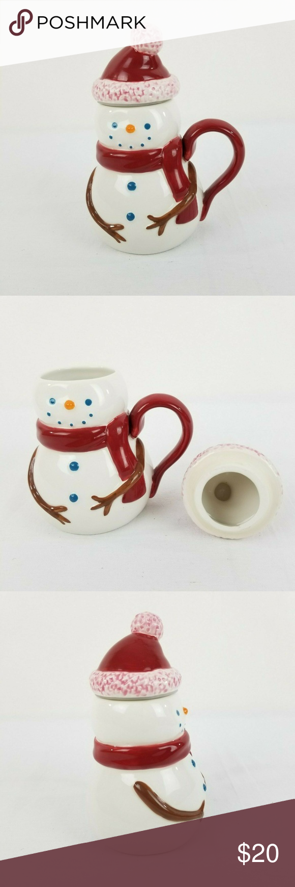 Collectibles Starbucks Snowman Mug with Lid 2006 Features
