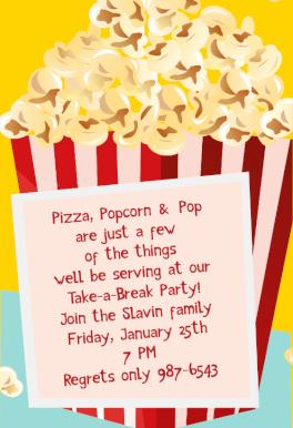 take a break movie free printable sleepover party invitation template greetings island