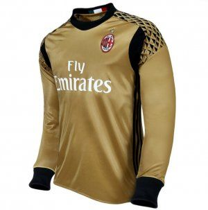 2a80996c8 AC Milan 16-17 Season LS Goalkeeper Gold Soccer Jersey [I562 ...