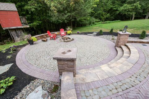 Expand Your Cambridge Patio With A Gorgeous Walkway From Your Back Door!  Installation: Todds