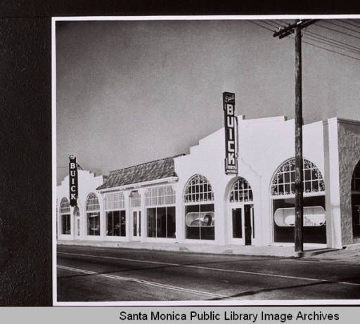 Cummings Buick Dealership 1937 1940 New Car Smell Santa Monica