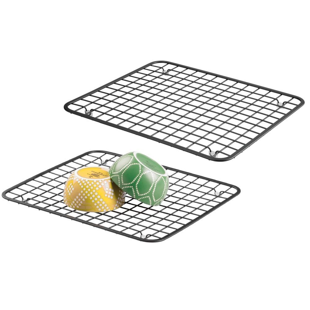 Metal Grid Kitchen In Sink Protector Mat Drying Rack Metal Grid Kitchen Sink Countertop Dish Soap Dispenser