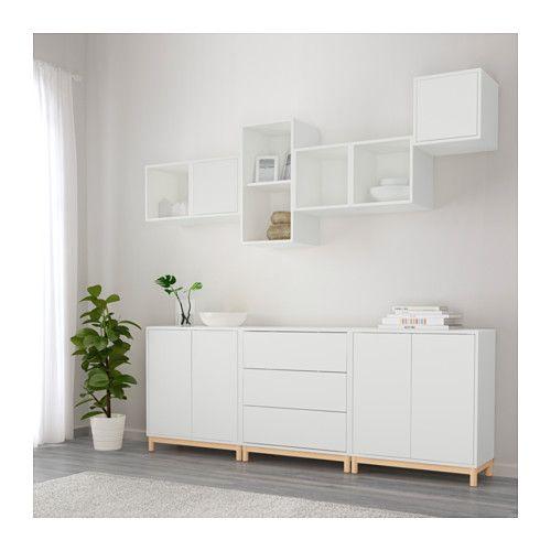 eket combinaison rangement avec pieds blanc coup de coeur ik a pinterest combinaisons. Black Bedroom Furniture Sets. Home Design Ideas