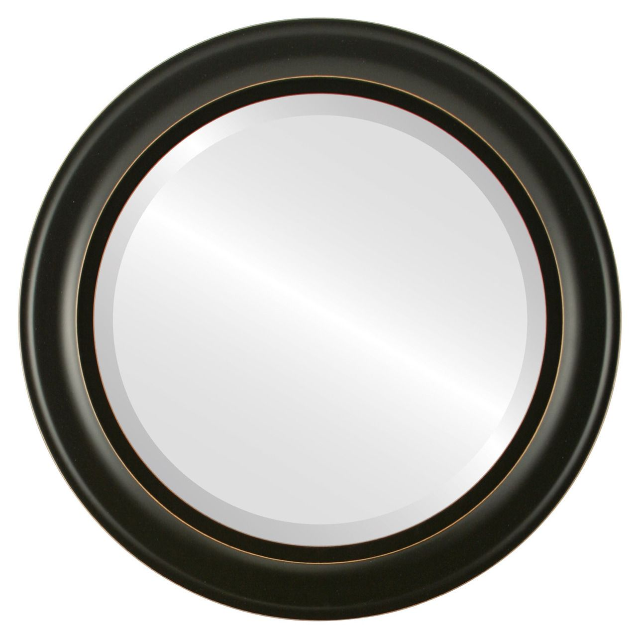 ac30e3c9065 Round Framed Mirror  871 Messina Rubbed Black Finish in 2019