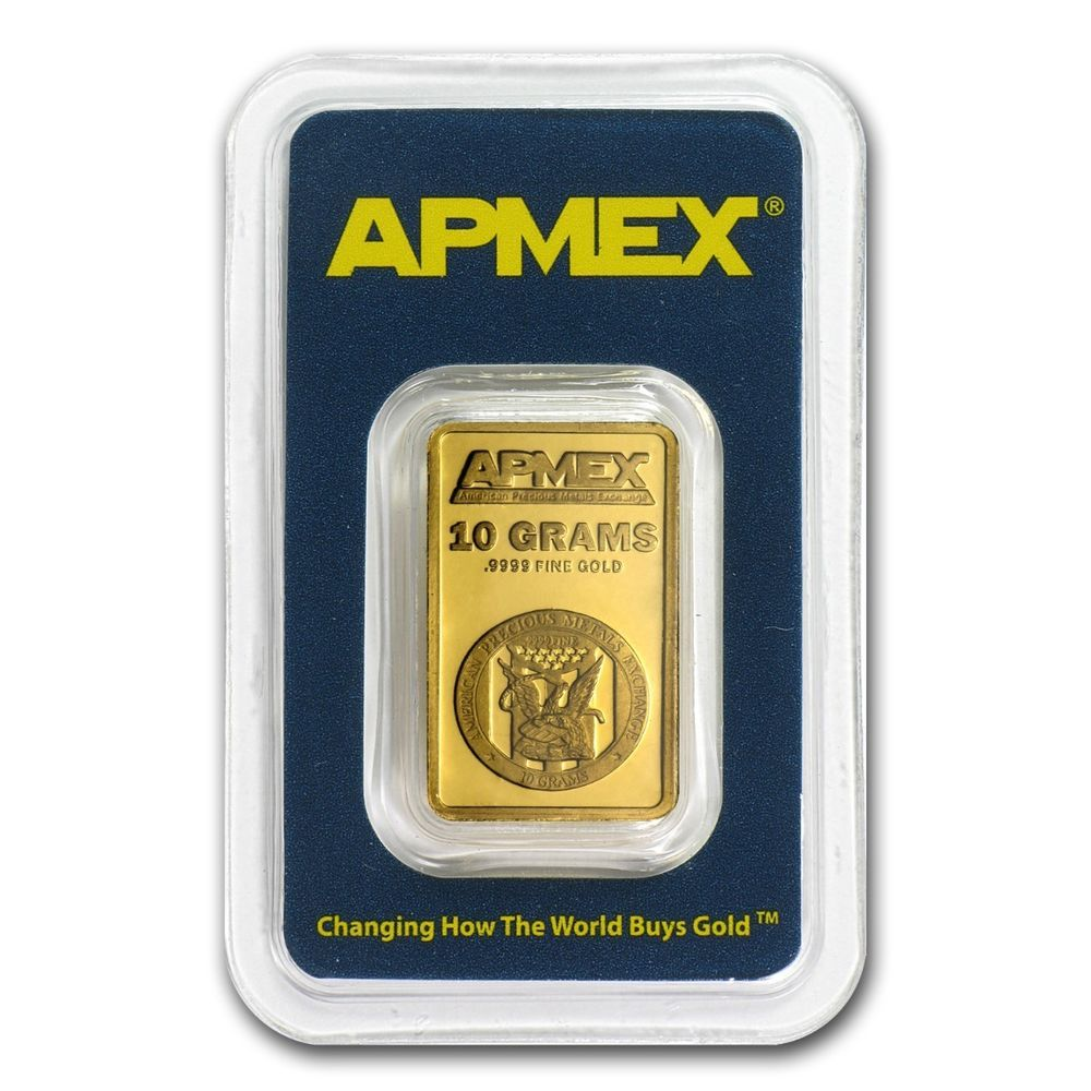 10 Gram Gold Bar Apmex In Tep Package Sku 63281 Ebay Apmex Gold Bar Gold Bars For Sale