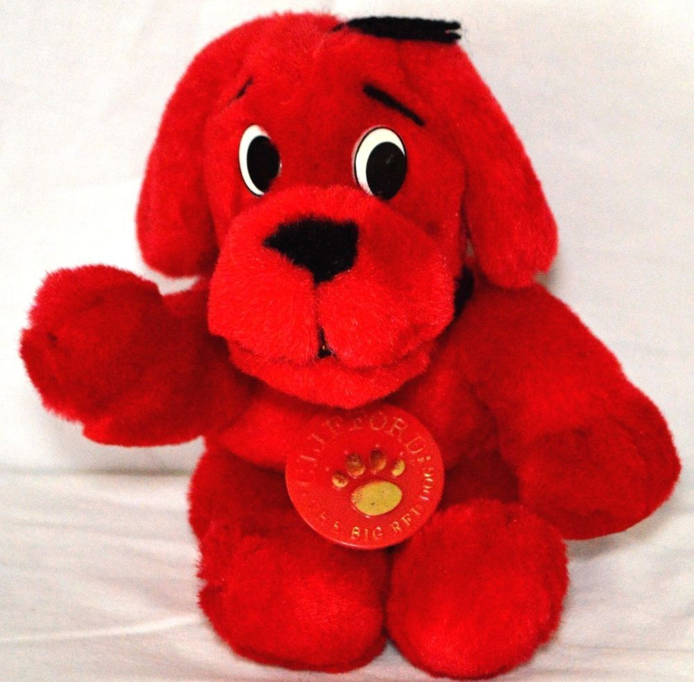 """Scholastic CLIFFORD THE BIG RED DOG 8"""" Plush STUFFED ANIMAL Toy #Scholastic"""