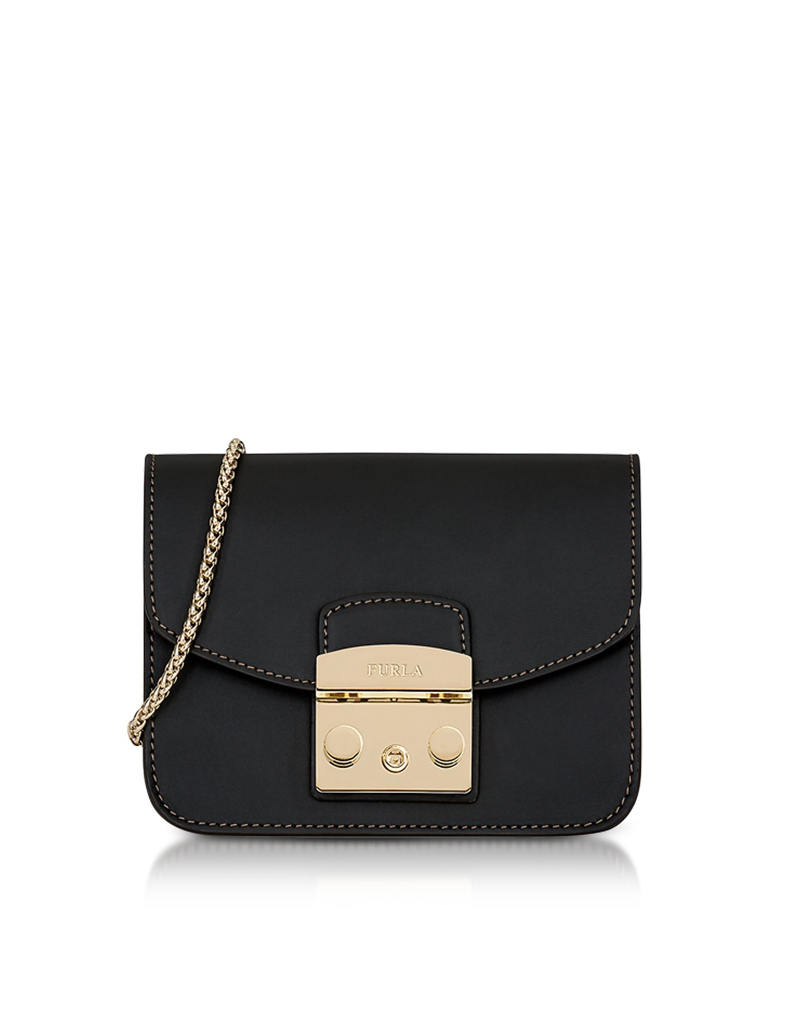 b6566c0ac823 FURLA BLACK SMOOTH LEATHER METROPOLIS MINI CROSSBODY BAG.  furla  bags   shoulder bags  leather  crossbody