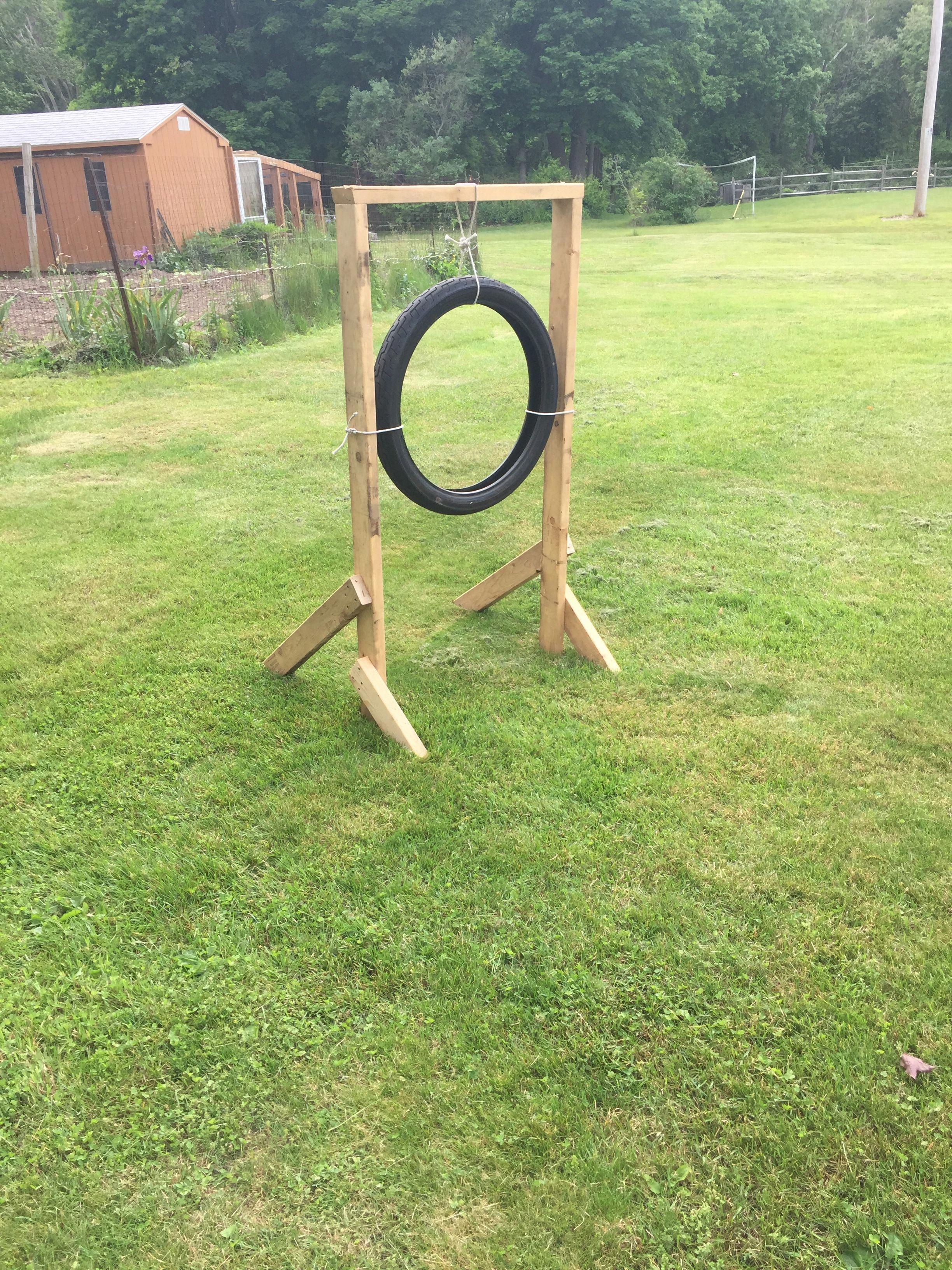 Home made football or baseball target practice in 15 mins
