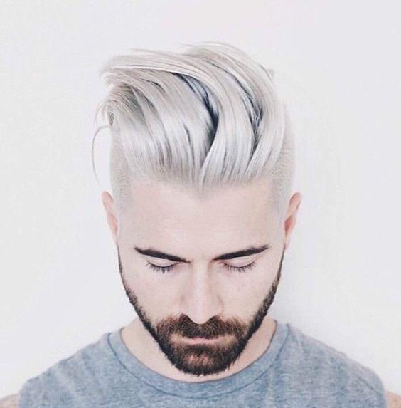 Les jeunes hommes aussi succombent aux cheveux gris ! La preuve en 17  photos , Coiffure homme