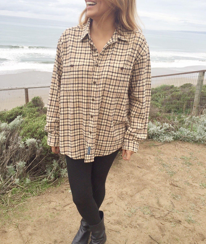 Grunge flannel outfits  Vintage us Grunge Flannel Plaid Shirt  Comfy OverSized Flannel
