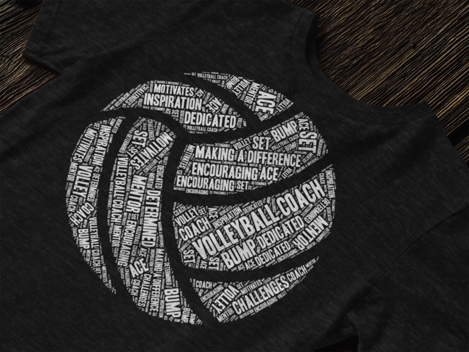 Volleyball Coach Appreciation Shirt Word Collage In Shape Of A Volleyball Makes A Great Thank You Gift Appreciation Shirt Coaching Volleyball Shirts