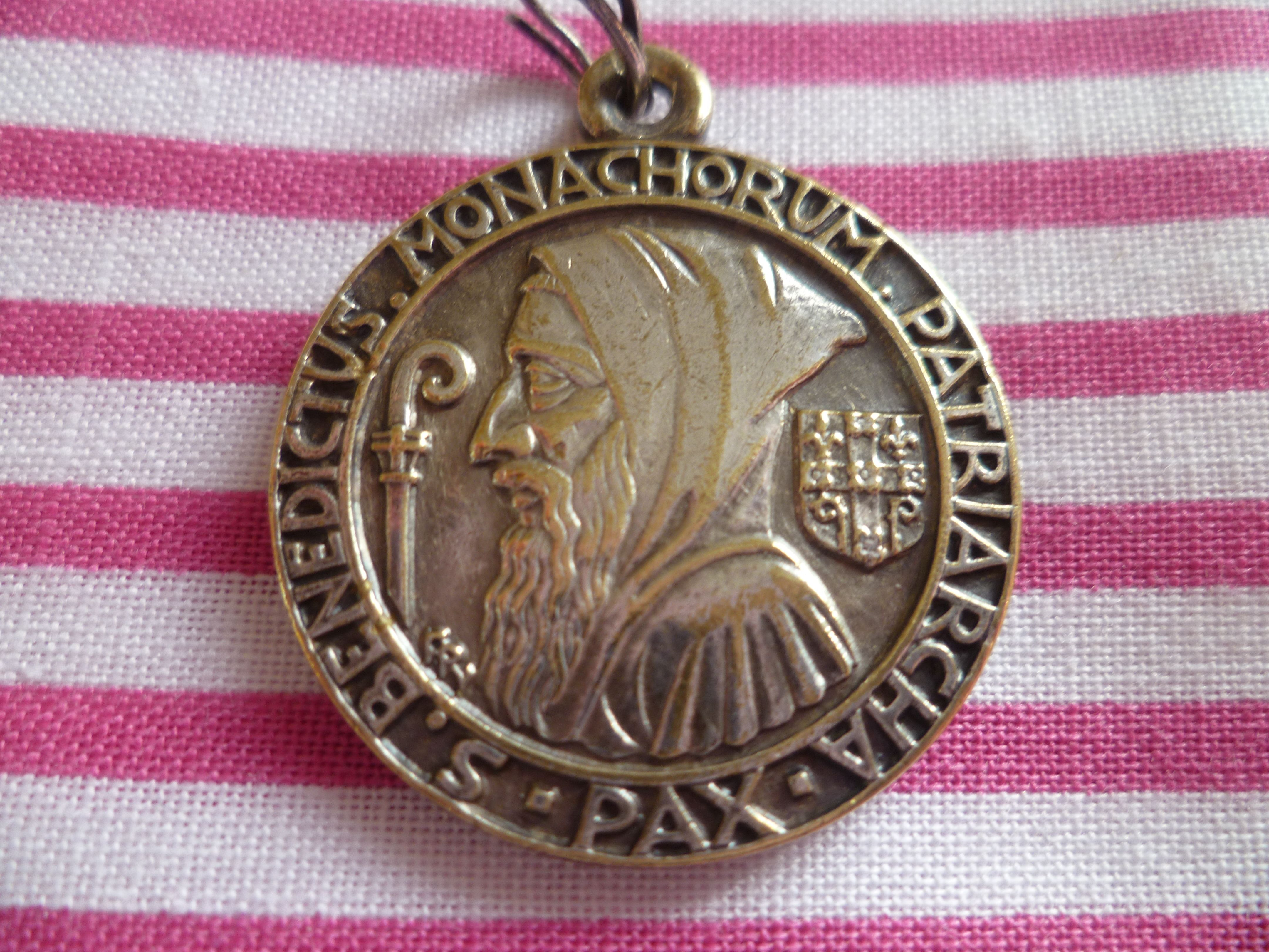 st life medallion a benedict catholic of day contemplative worship medal
