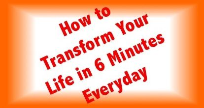 Learn how to transform your life and business in 6 minutes everyday! It's simple, it's easy, and it's possible!