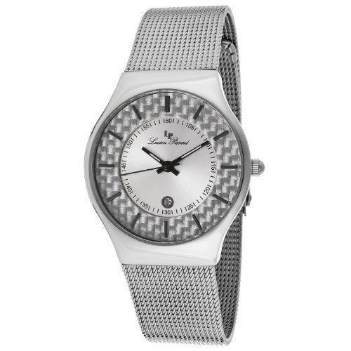 Lucien Piccard Women's LP-110842-02S Bernard Silver Dial Stainless Steel Mesh Watch   WatchCorridor