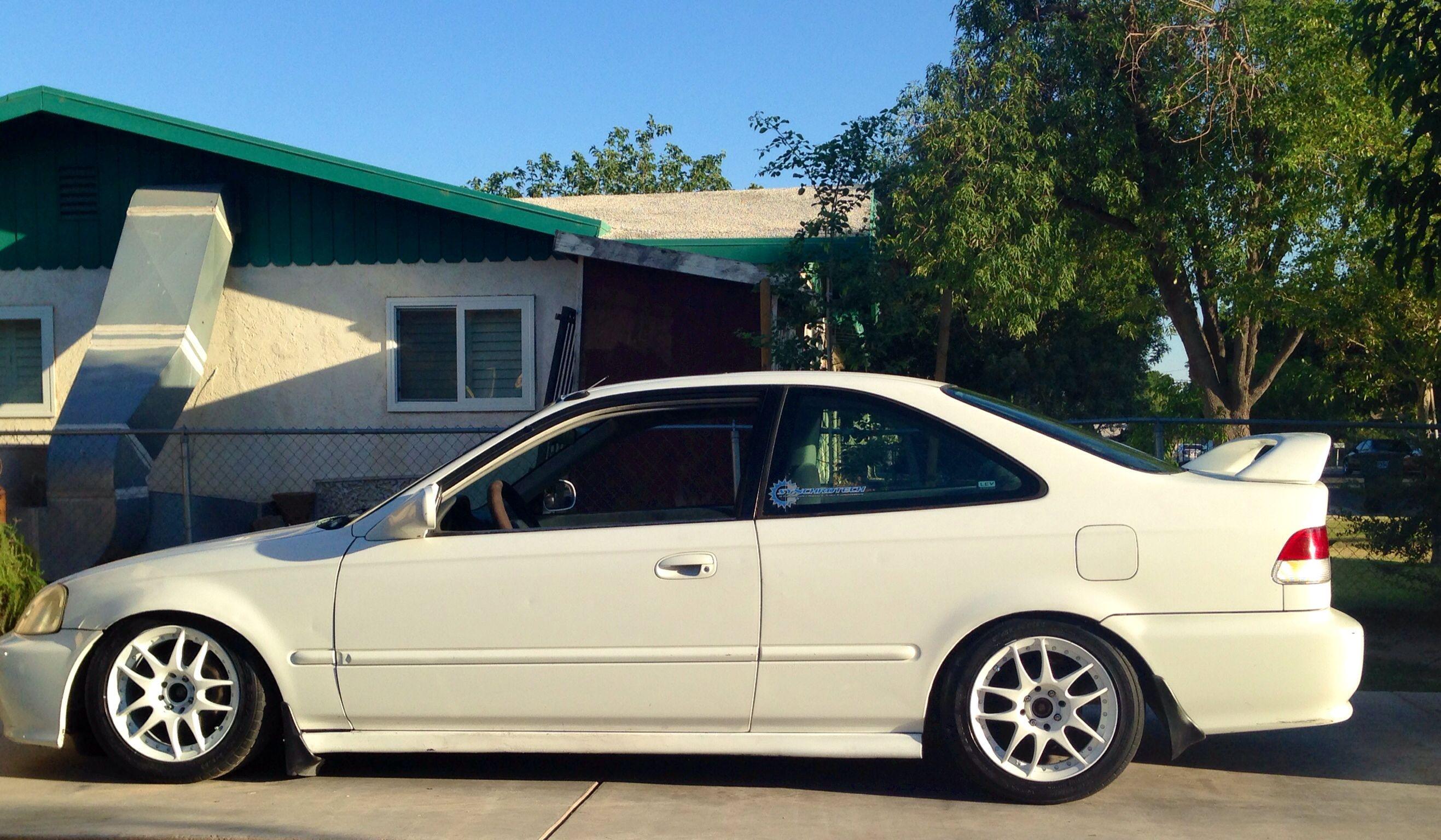 White Ek Coupe Honda Civic Honda Civic