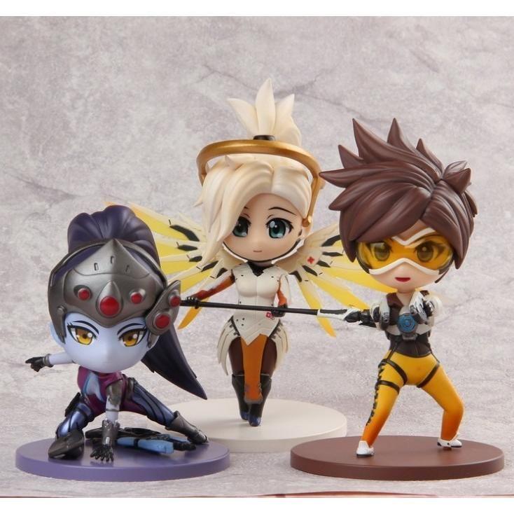 Overwatch Kawaii Cute Mini Figures Mercy Tracer Widowmaker Over