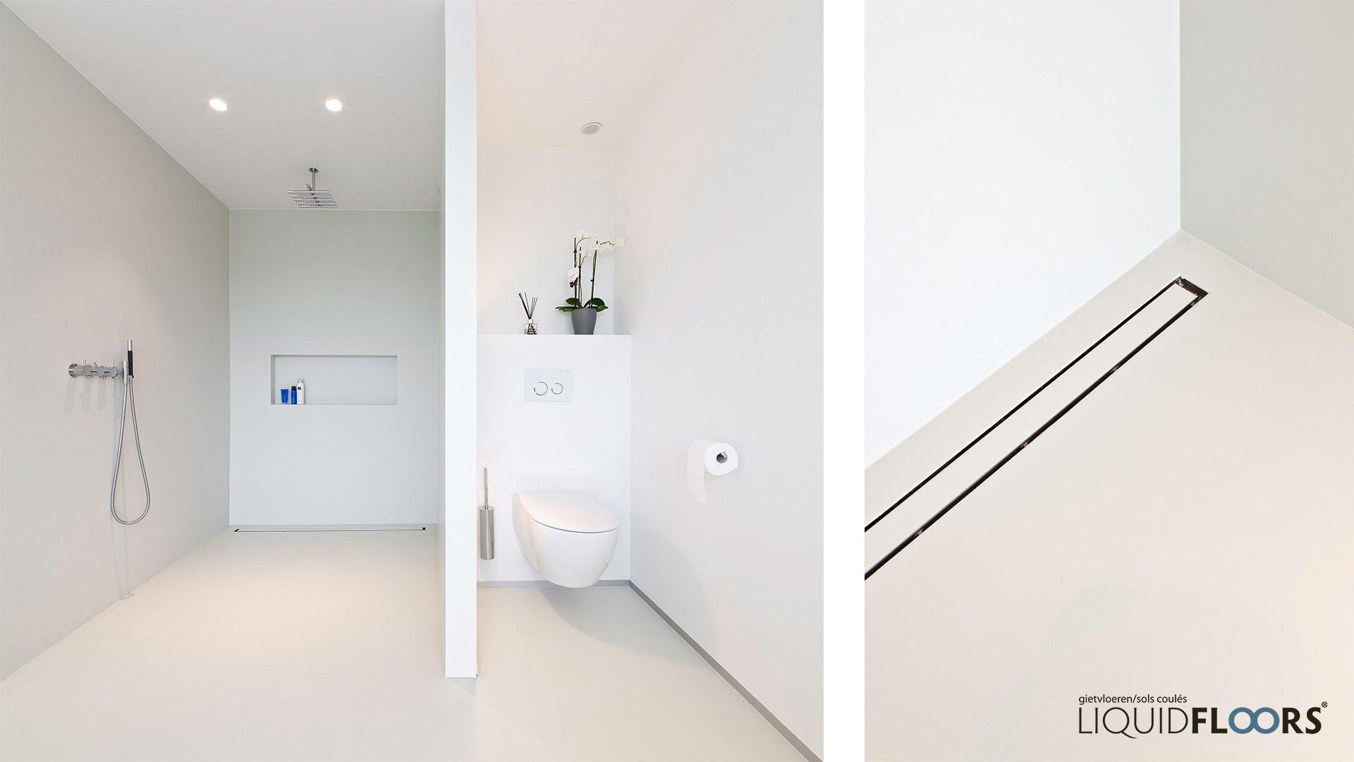 Inloopdouche badkamer liquidfloors gietvloeren dream home
