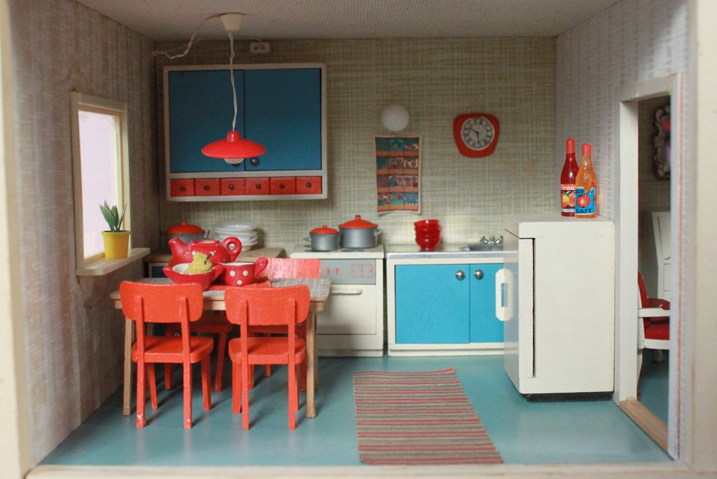 60s kitchen/Küche | Pinterest | 60s kitchen, Dollhouses and Mini s