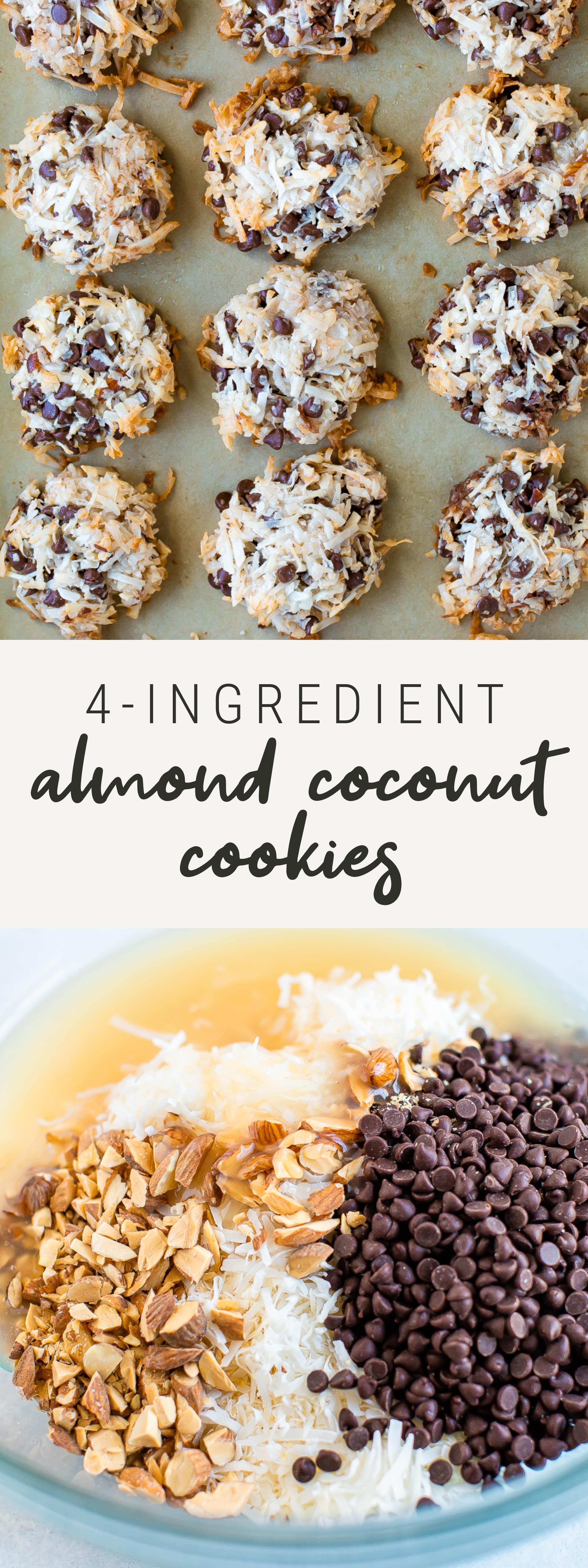 Easy Almond Coconut Cookies | Vegan + Gluten-Free