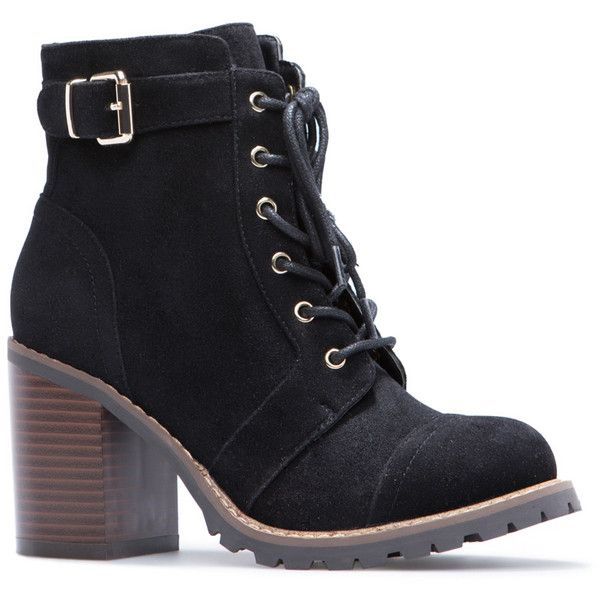 ShoeDazzle Booties Carryn Womens Black ❤ liked on Polyvore featuring shoes, boots, ankle booties, black, booties, black boots, black bootie, kohl boots, black ankle boots and black ankle booties
