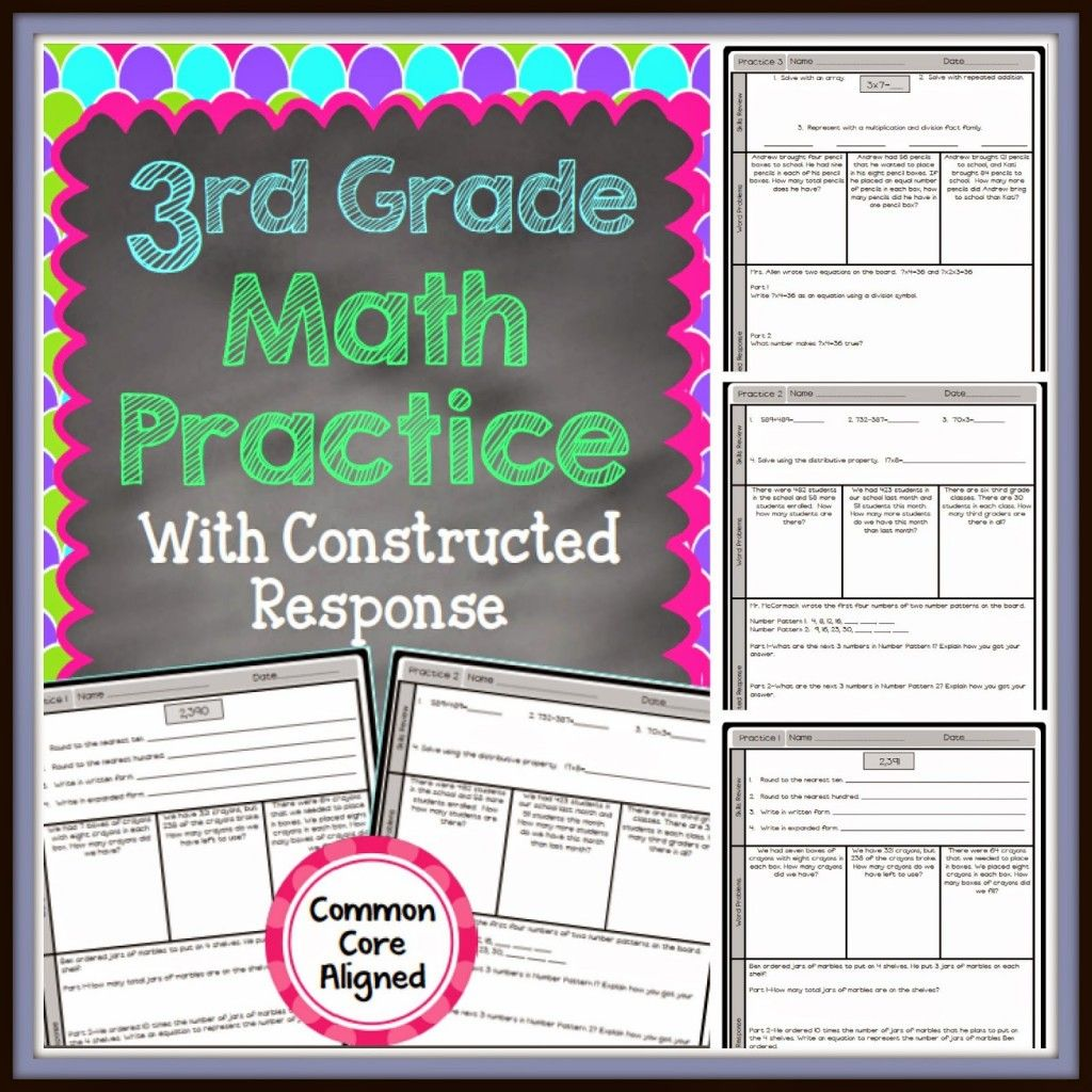 3rd Grade Constructed Response Math Practice
