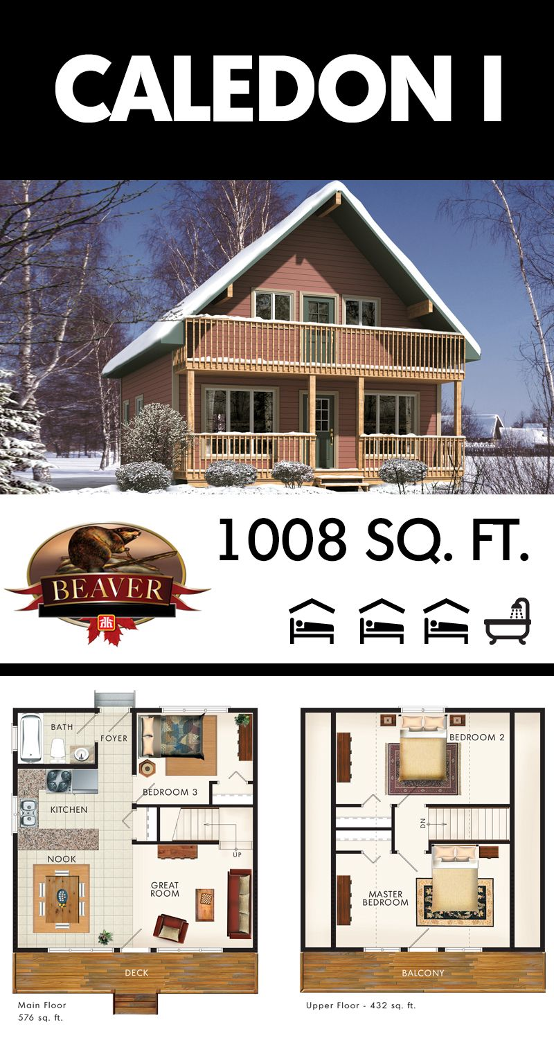 this two story chalet style cottage has lots of space for