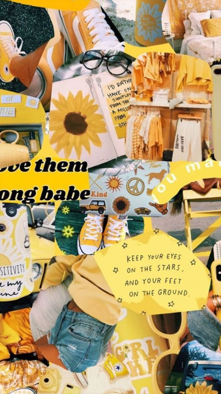 Yellow wallpaper  shared by candeeq09 on We Heart It