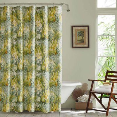 Tommy Bahama Cuba Cabana Shower Curtain In Green Beach Shower Curtains Tommy Bahama Curtains