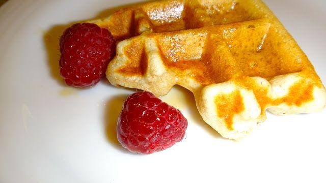 Waffles de platano #desayuno #platano #waffles