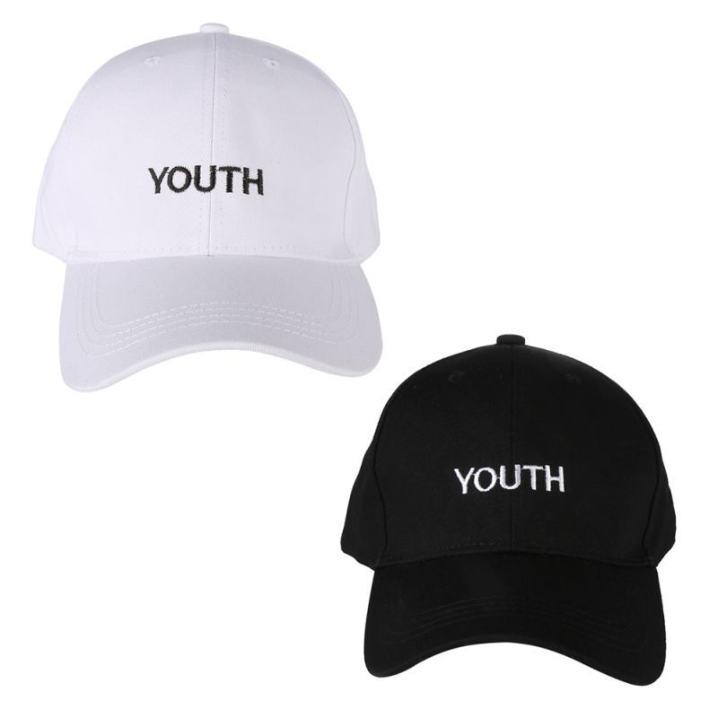 519cc196ab3 2017 Fashion Cap Women Men Summer Spring Cotton Caps Letter Solid Adult  baseball Cap Black White