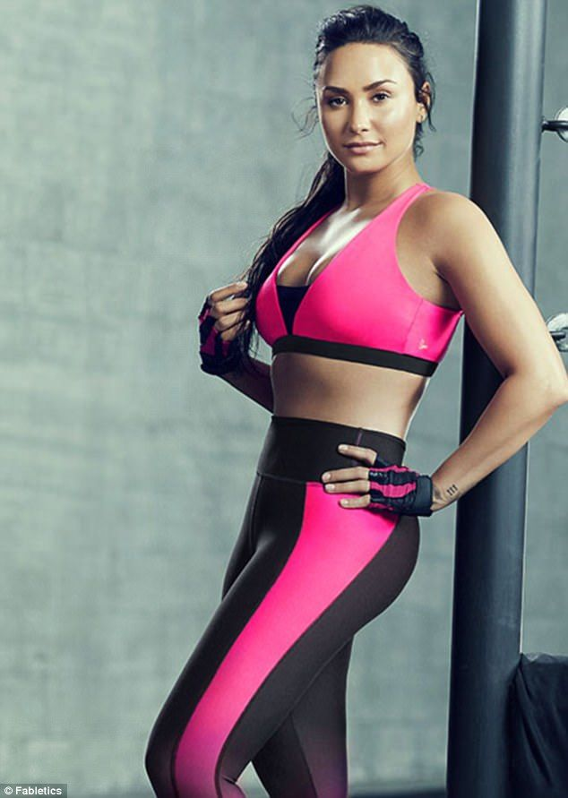 13f0ea6a8c Get motivated at the gym in Demi s new Fabletics collection  DailyMail  Click to buy now